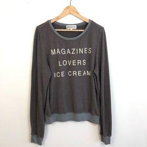 Sweaters - Wildfox Magazines Lover Icecream oversize Sweater